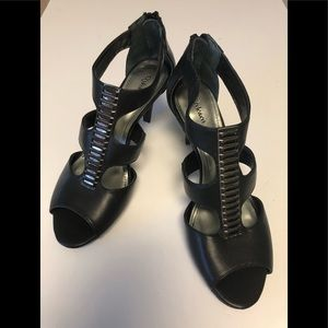Style &Co NWOT, black strap, zip back, dress shoe
